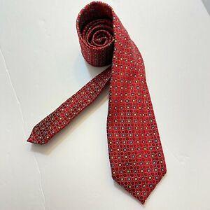 Ermenegildo Zegna MEN'S TIE Geometric 100% Silk MADE IN ITALY