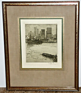 Josef Eidenberger Signed Etching of Seattle