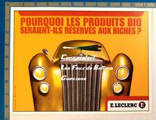 LECLERC PRODUITS BIO MASCOTTE VOITURE POIREAU publicité advert