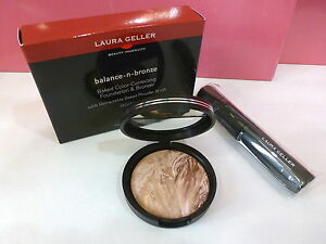 New Laura Geller Balance-N-Bronze Regular (Medium) w Brush Large Full Size Boxed