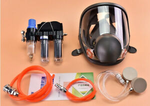 Double Supplied Air Fed Respirator Kit System 6800 Face Gas Mask