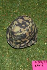 DRAGON DREAMS DID 1/6 SCALE WW II GERMAN CURTIS METAL HELMET & CAMO COVER