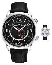 Александр Подмастерье мужские всемирно таймер швейцарские часы Сапфир кристалл 40 мм