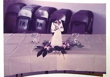 Vintage 70s Found PHOTO Cute Black African Wedding Cake Decoration Table Figure