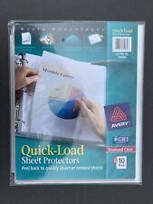 Lot Avery Quick Load Sheet Protectors Diamond Clear Ql119 10 74084 Qty 500
