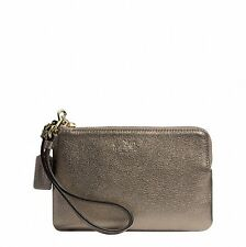 NWT COACH Bleeker Metallic Leather Small Wristlet 52027