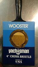 "Wooster 4"" China Bristle Yachtsman Lot of 12 Paintbrushes Enamels Varnishes Z112"