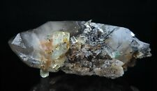 BERYL crystals on Smoky Quartz * Erongo Mountains * Namibia