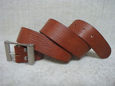 EXPRESS - Men's Casual Belt - Brown Leather - Silver Tone Buckle - Size 38