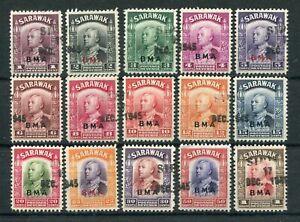 SARAWAK 1945 BMA OVPT TO $1 SIBU STRAIGHT LINE CANCELS