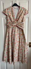 Libelula Beautiful Floral Vintage Look Dress Size 16 (42)