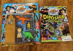 Andy's Amazing Adventures clock figure Magazine Dinosaur Stickers cBeebies NEW