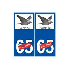 Palombe sticker ramier autocollant plaque arrondis