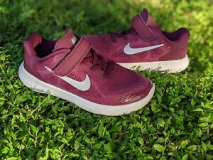 Nike Free RN (PSV) Bordeaux Running Shoes Girls Size 1 Y