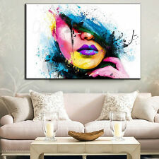 Modern Abstract Vogue Art Oil Painting on Canvas Wall Decor Half Face No Framed