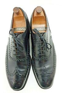Church's Men's Black Brogue Shoes With Original Shoe Stretchers Size 95F UK9.5