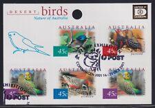 Australia Scott 1995h Xf 2001 Desert Birds Hafnia Overprint and Show Cancel