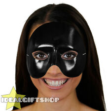BLACK TOP HALF FACE PHANTOM MASK VENETIAN MASQUERADE PARTY DRAMA SCHOOL THEATRE