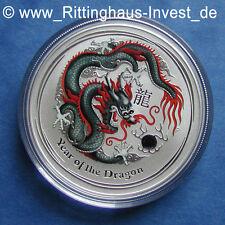 Lunar II Dragón negro dragon Moneda de plata 1 oz WMF Berlín coloreado de color