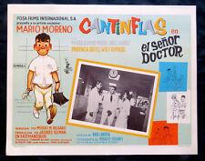 "MARIO MORENO CANTINFLAS ""EL SENOR DOCTOR"" MARTHA ROMERO N MINT LOBBY CARD 1965"