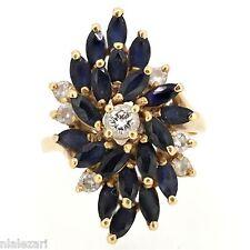 .50ct Diamonds sapphire ring 14k yellow gold  size 4-10