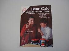 advertising Pubblicità 1982 PELATI CIRIO