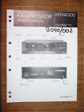 MANUAL DE SERVICIO Kenwood kx-56 CASSETTE tapa, original