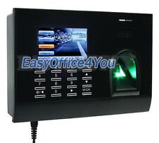 TCP de huella digital y tarjeta de asistencia registrador de tiempo del sistema