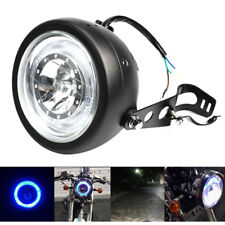 "Universel 6 1/2"" Inch Angel Eye LED moto Phare Projecteur Lampe Avant Hi/Lo Beam"