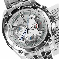Imported Casio Edifice EF-550D7AVDF Chronograph White Dial  Men's Watch