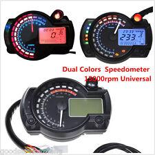 15000rpm Motorcycle LCD Digital Dual Color Speedometer Tachometer Odometer Gauge