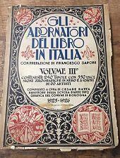Gli Adornatori del Libro in Italia Volume III (Woodcuts Italian artists) 1926