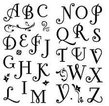 Inkadinkado Clear Stamps - Coffee House Alphabet, Letters