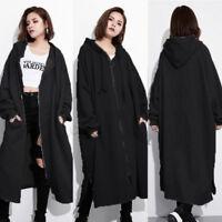 M-5XL ZANZEA Womens Hoodies Zip Up Sweatshirt Casual Long Jacket Coat Oversize