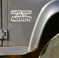 Funny Girls Muddy 4X4 STICKERS DEFENDER DISCOVERY RANGE, LAND ROVER