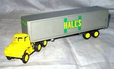 VINTAGE WINROSS HALLS TRACTOR TRAILER & YELLOW CAB DIE CAST METAL TOY TRUCK