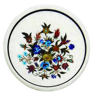 "12"" round Marble Coffee Table Pietra Dura Art Handmade Work For Home Decor"
