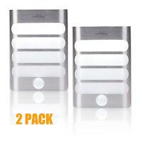 2-Pack Luxury Aluminum Stick Anywhere Bright Motion Sensor LED Wall Night Light