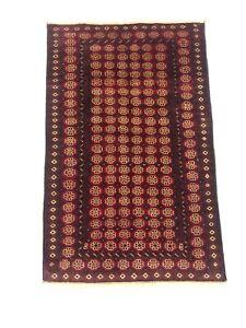 Excellent vintage handmade turkmen afghan rug, hand-knotted turkmen rug