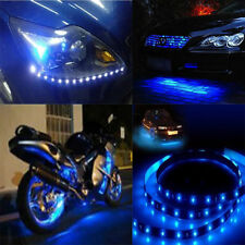 Practical 5x 30cm Blue LED Car Vehicle Motor Grill Flexible Light Strips 12V