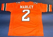 ROHAN MARLEY CUSTOM UNIVERSITY OF MIAMI HURRICANES JERSEY THE U BOB MARLEY