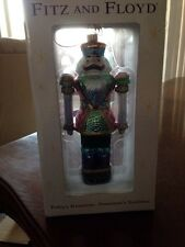 Fitz And Floyd Nutcracker Collection Poinsetta Motif Ornament
