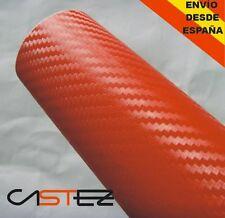 VINILO FIBRA CARBONO ROJO 3D TEXTURADO - 30 x 20 CM  carbon fiver RED vinyl