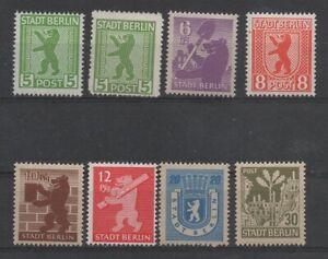 SBZ-Berlin Brandenburg 1 - 7  (Bären) postfrisch