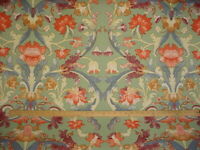 13Y Scalamandre M7 00011370 Mouret Thyme Green French Floral Upholstery Fabric
