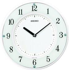 SEIKO CLOCK hanging clock solar plus solar thin wooden frame radio clock SF505W