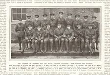 1916  ANTIQUE PRINT-WW1 - TRAINING OFFICERS,MASTERS AND STUDENTS,  NAMED