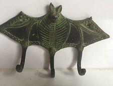 Ottone Grande Antico Pipistrello Gancio Appendiabiti Portachiavi Da collezione