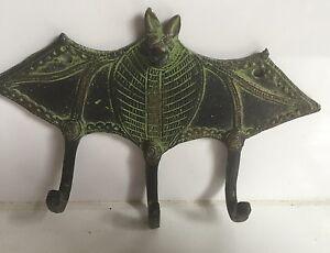Brass Large Antique Bat Hook Hooks Coat Hanger Key holder Gift Collectible