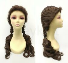 Brown Braided Pigtails Costume Wig Dorothy Wizard Of Oz Cosplay French Braid 22""